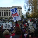 Teachers with Occupy on the Steps of the Capitol, Olympia, WA. 11/28/2011. Photo by William Bass.