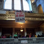 Occupation of the Capitol Rotunda, Olympia, WA. 11/28/2011.