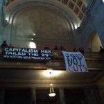 Occupying the Capitol Rotunda, Olympia, WA. 11/28/2011.