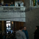 Occupy the Rotunda! Olympia, WA. 11/28/2011. Photo by William Bass.