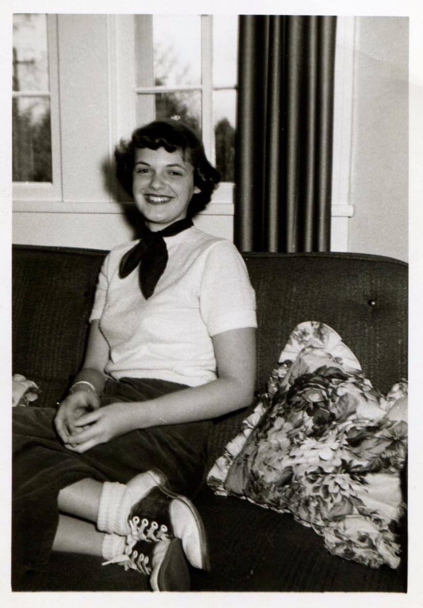William's mother, Dorothy Elizabeth Ussery, in Blacksburg, Virginia, 1953.