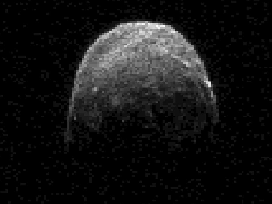 Asteroid 2005 YU55, Radar Imagery from Goldstone Deep Space Communications Complex, CA, 7 November 2011.