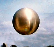 "An enhanced representation of a ""Silver Sphere"" UFO seen from the Arecibo Radio Observatory, Puerto Rico, in the early 1990s. From: http://www.iraap.org/martin/ufos_arecibo.htm. This image closely resembles what the Bass Family witnessed on their Virginia farm in the 1960s."