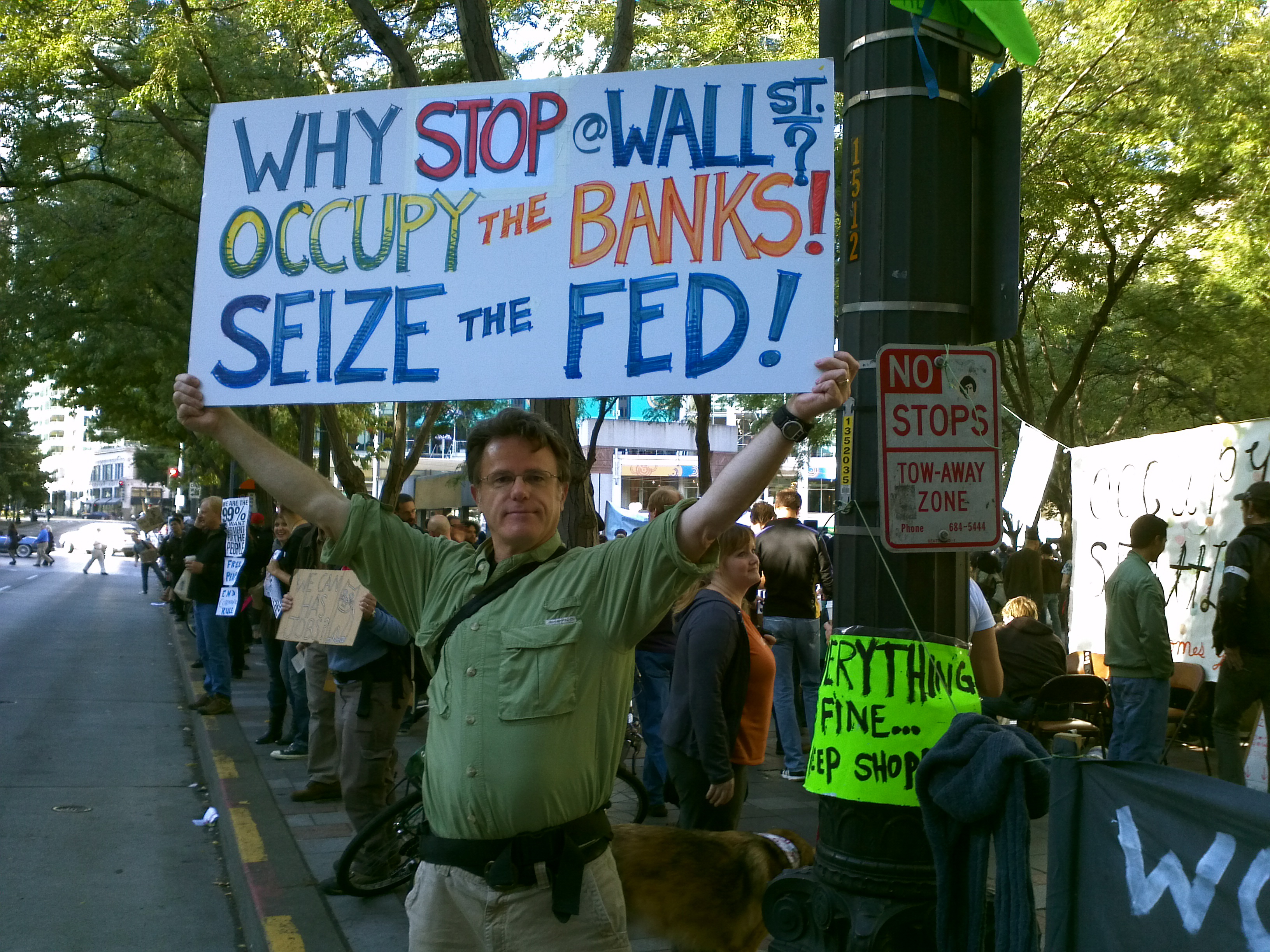 William Bass @ Occupy Seattle! Rally & March. Foto by Syd Fredrickson, Saturday 8 October 2011.