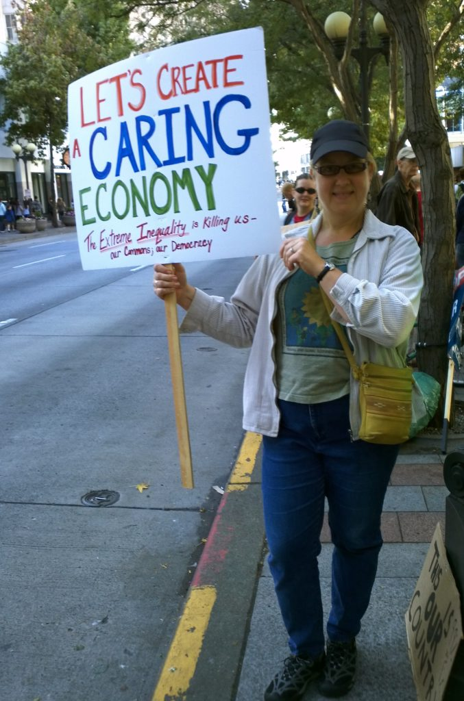 Syd Denise Fredrickson at Occupy Seattle on 8 October 2011.