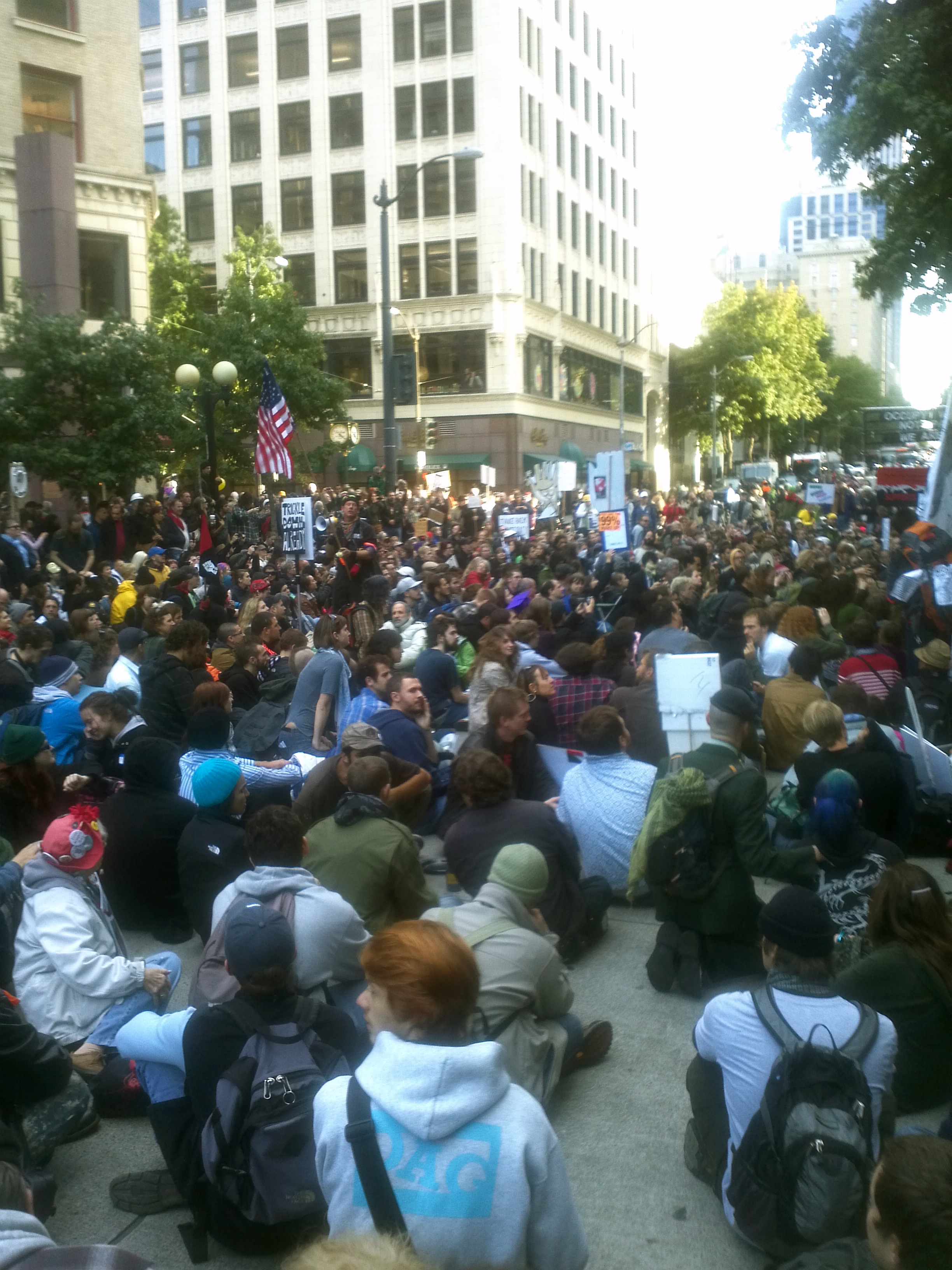 Massed demonstrations for Occupy Seattle/Occupy Earth/Occupy Everywhere/Occupy Love. Downtown Seattle, WA, Cascadia, Saturday 15 October 2016.