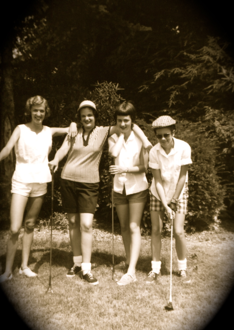 Golfing away the Summer of 1958...L2R: Ussery cousin & 3 Ussery sisters Dot, Marianna, & Nancy, Blacksburg, Virginia.