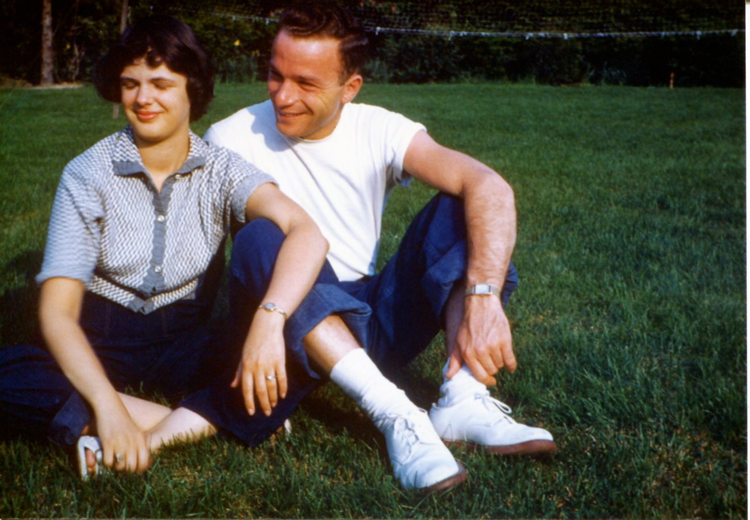 Dot & Bill, Playful Lovers, Blacksburg, Virginia. Summer of 1953.