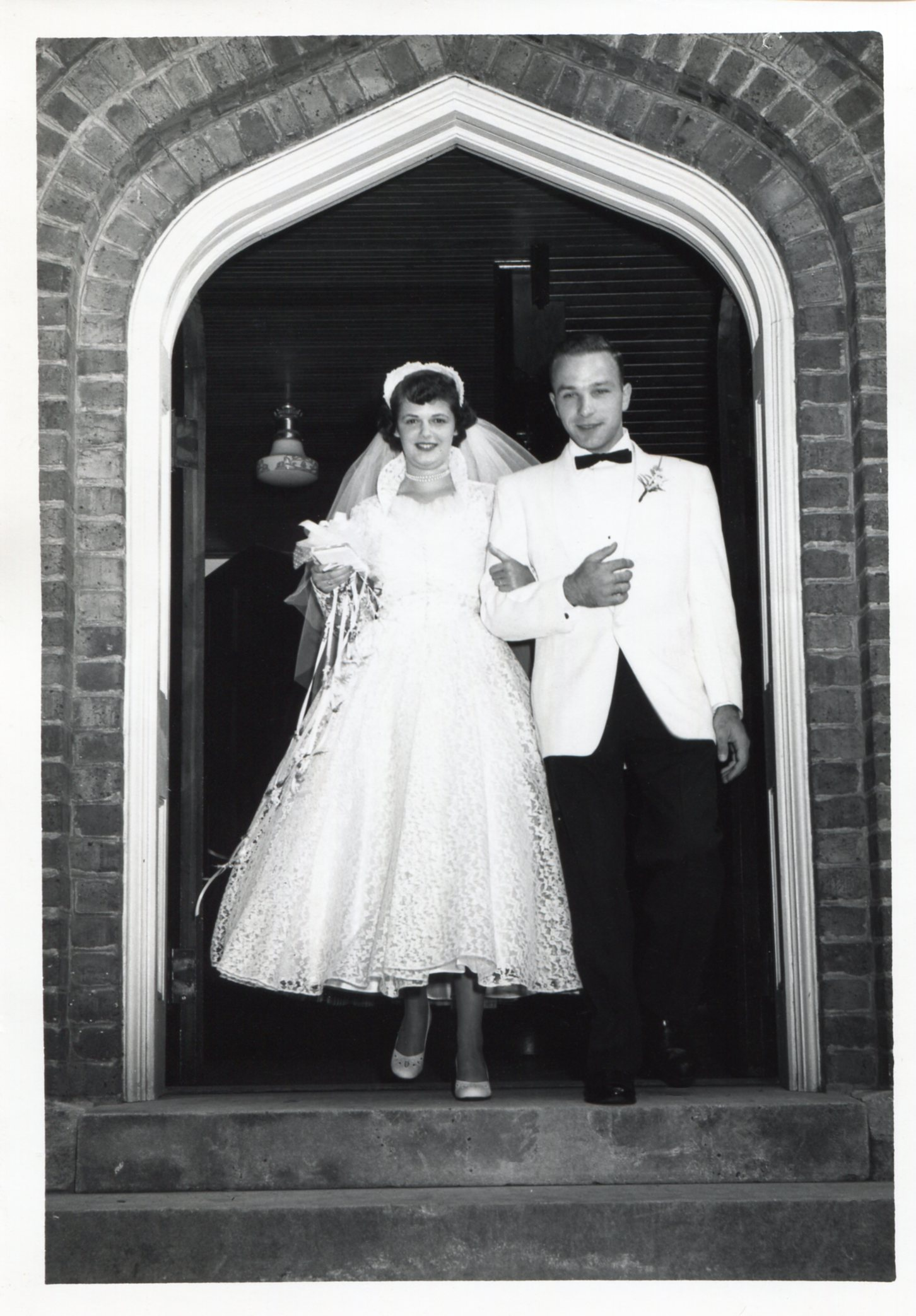 The Marriage of Dot & Bill, Blacksburg, VA. 22 August 1953.