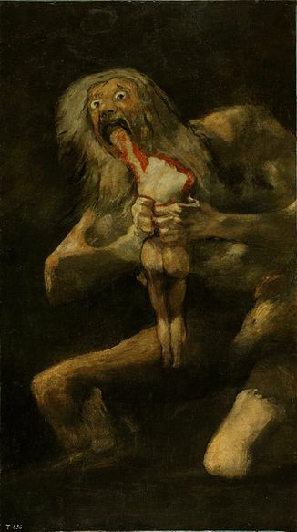 """Saturno devorando a su hijo/Saturn devours His Son,"" Francisco de Goya (1819-1823)"