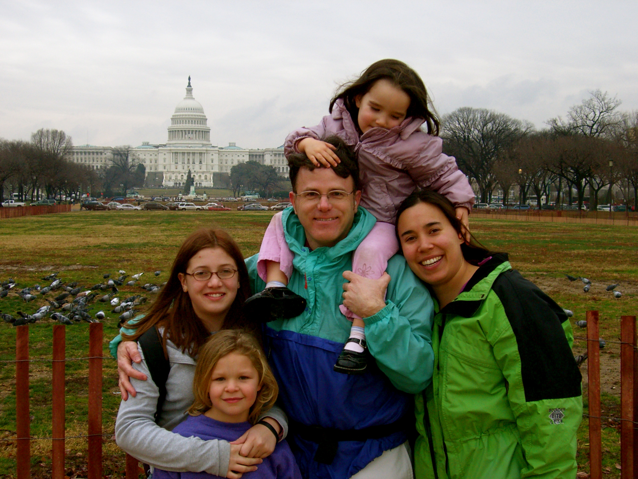 Touring Washington, D.C., late December 2005 after spending Christmas in Virginia.