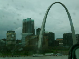 Gateway Arch on the Mississippi River, St. Louis, MO. April 2007.