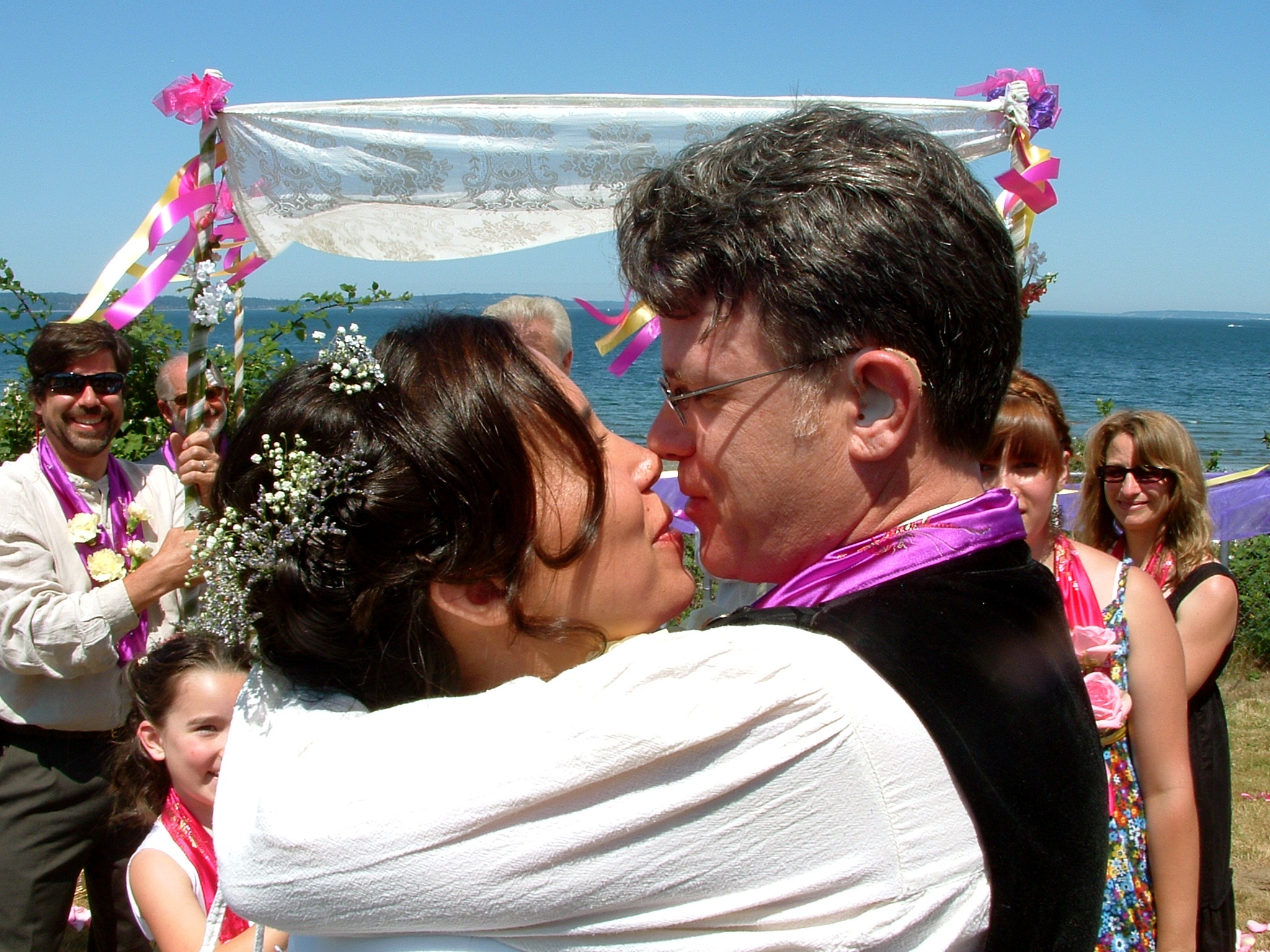 After the Kiss...Kristina & William at their Wedding, Saturday 11 July 2009.
