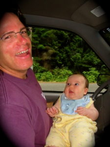 William & Baby Talia, Bellevue, WA, Summer of 2002.