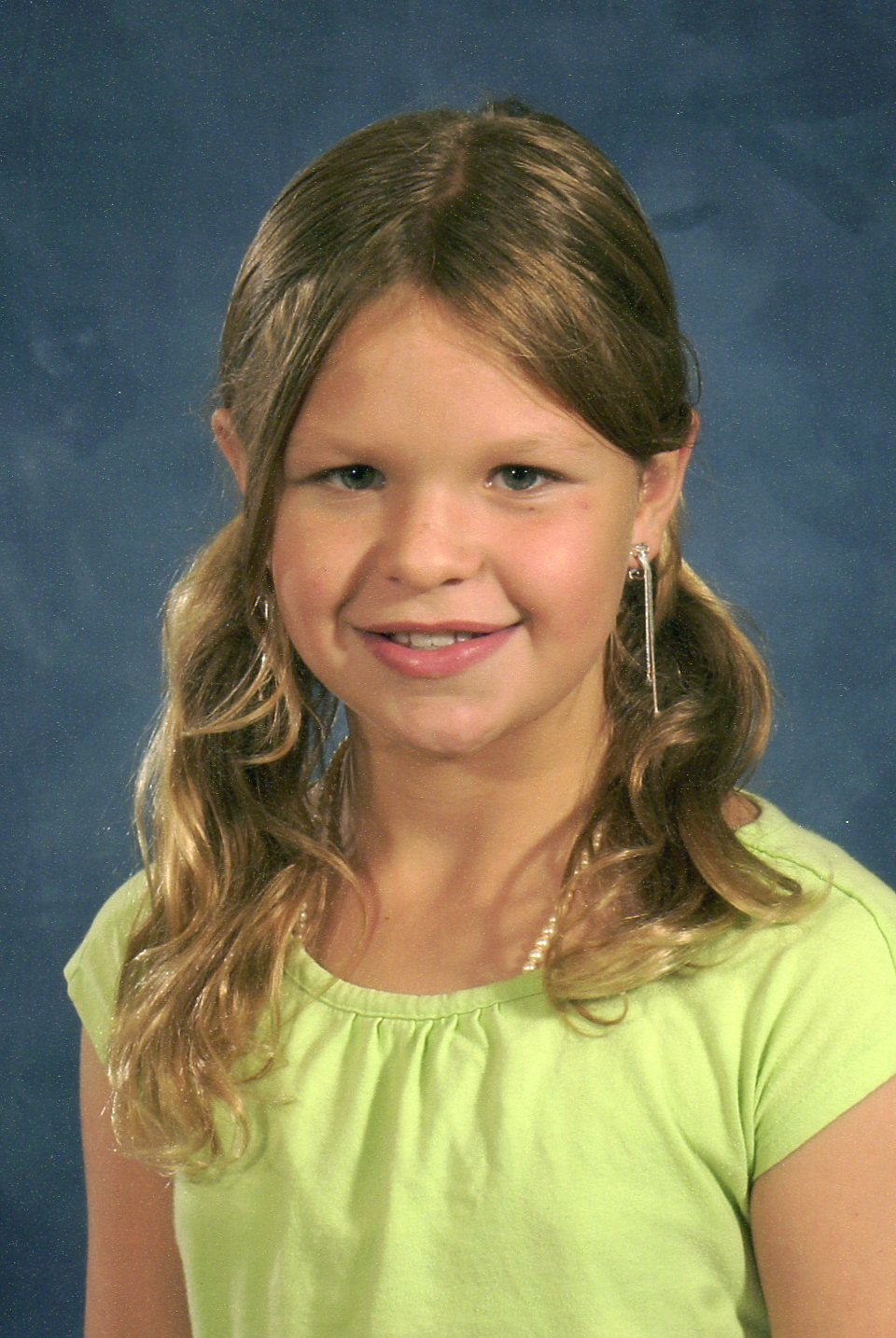 Kate, age 9 (almost 10), Fourth Grade, B.F. Day Elementary School, Fall of 2008.