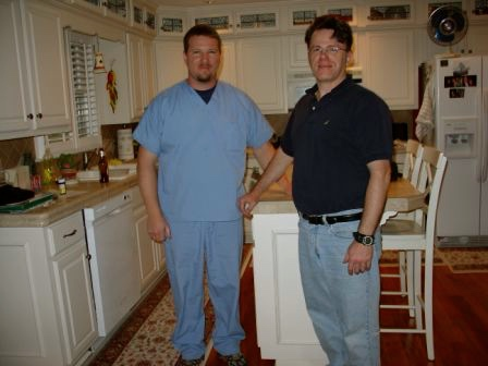 Long Time No See! L2R: Tim & William in Murfreesboro, TN, April 2007.