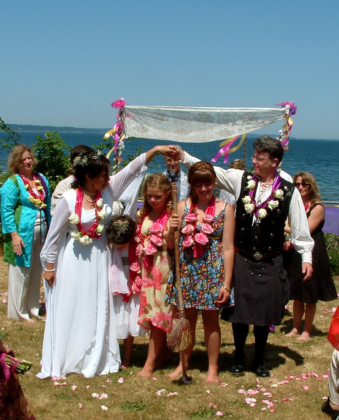 After we said our Vows to our children, Talia, Kate, & Morgan. Saturday 11 July 2009.