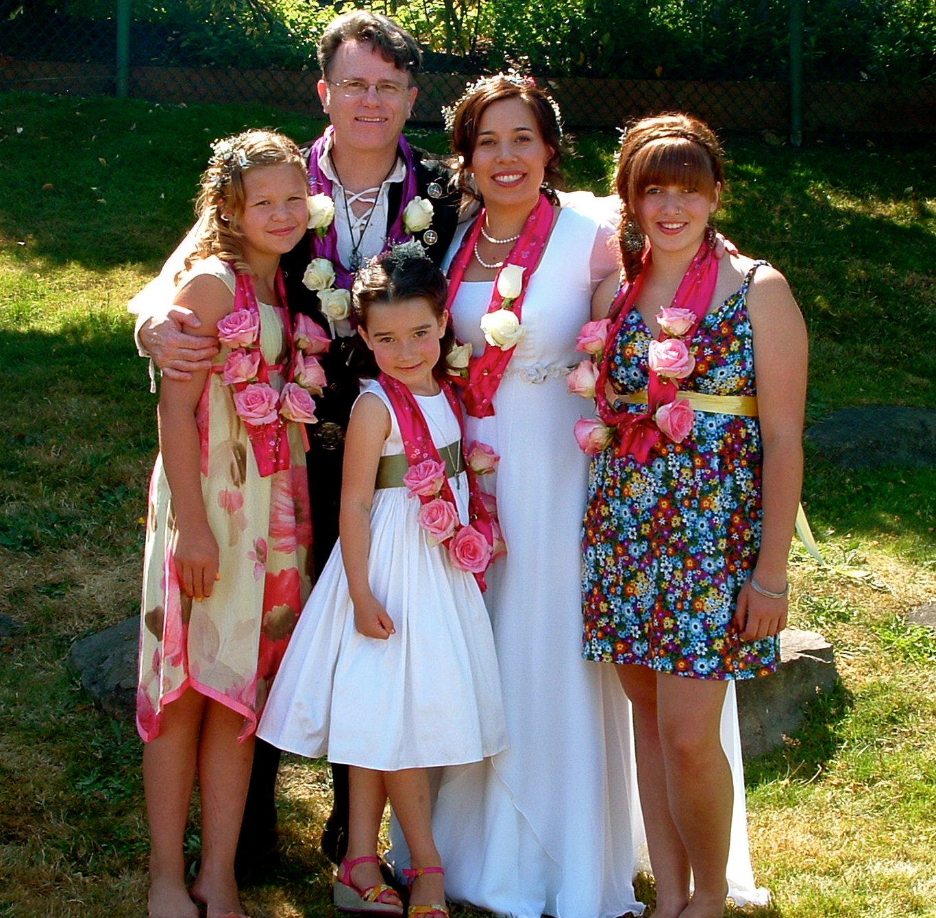 Our Happy Family just after the Wedding Ceremony, Saturday 11 July 2009.