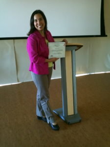 Kristina Bass receives the Legacy Award for her level of excellence and commitment as a volunteer organizational development consultant & coach at 501 Commons, Bellevue, WA. Thursday 27 October 2011.
