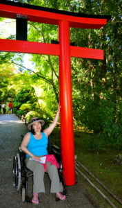 Kristina sick with food poisoning as was William the day before, but determined to tour Butchart Gardens, Victoria, BC. Sunday 11 July 2010. Of course, William had to push her up & down hills.