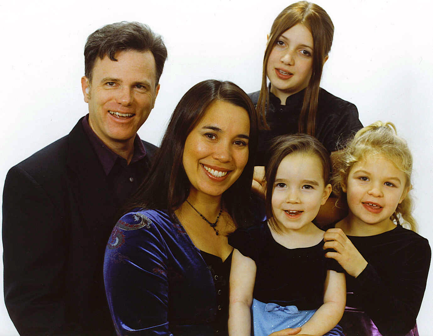 Katayama-Bass Family, L2R: William & Morgan in back; Kristina, Talia, & Kate in front. Thanksgiving 2005. Woo Hoo!