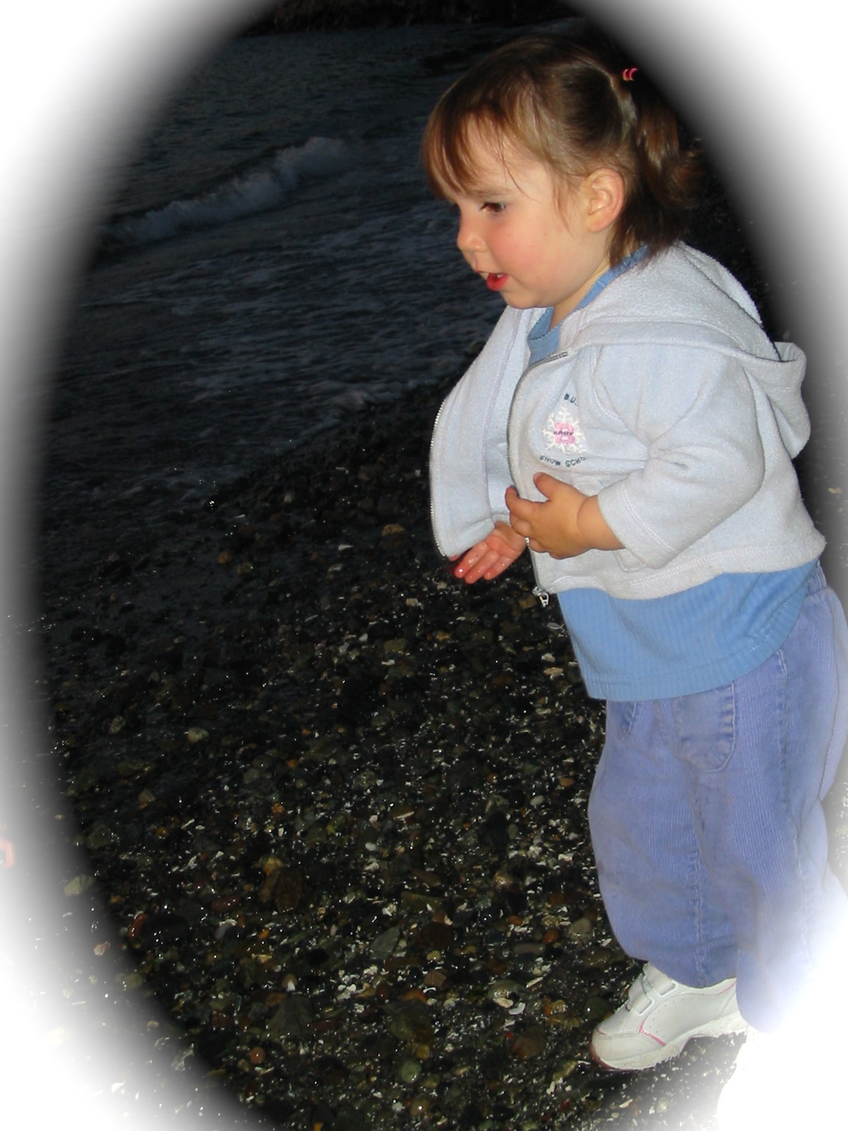 Talia is EXCITED to see ROCKS and WATER!