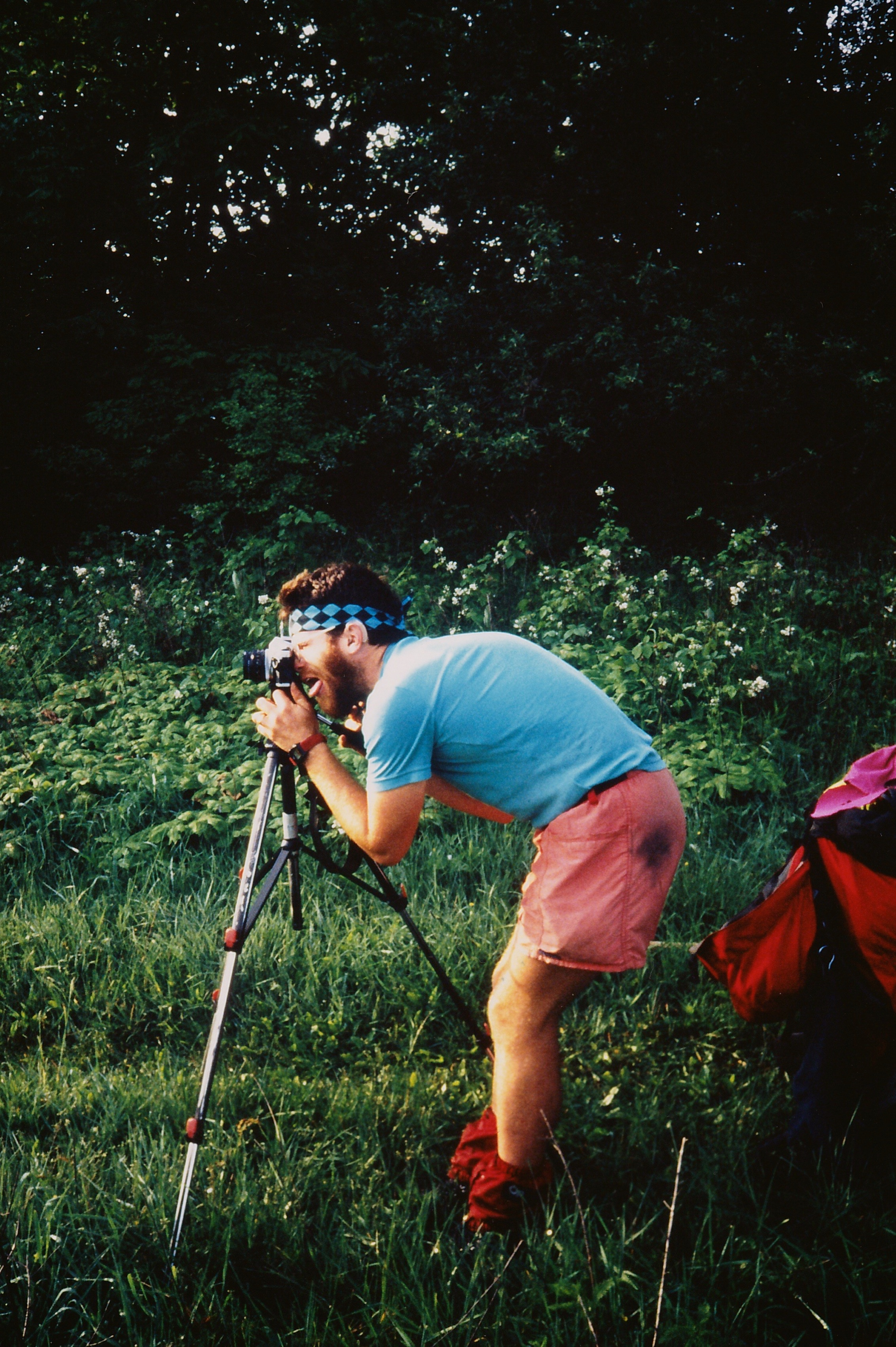 William Bass on the AT somewhere along the VA-WV border, Summer of 1991. Foto by Weather Carrot.