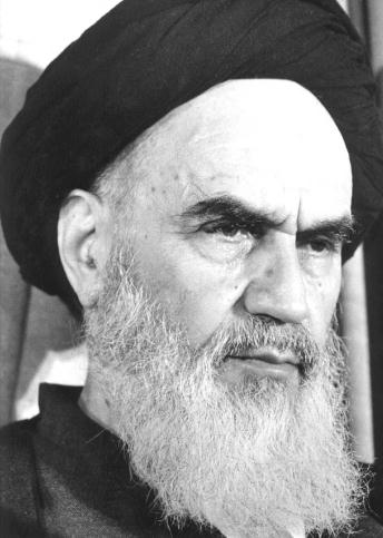 Ruhollah Khomeini, the Shi'a Ayatollah of Iran, 1979-1989. Photographer Unknown. Wikipedia Commons.