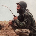 Osama bin Laden in Afghanistan helping the U.S.-backed Mujahideen against the Soviets.