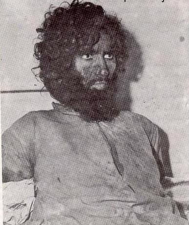 Juhayman ibn Muhammad ibn Sayf al-Otaibi of Najd, leader of the international radical Salafi jihadist rebellion in Saudi Arabia who launched the Battle of Mecca, November-December 1979. He's shown here after his capture. Saudi authorities beheaded him the following month.