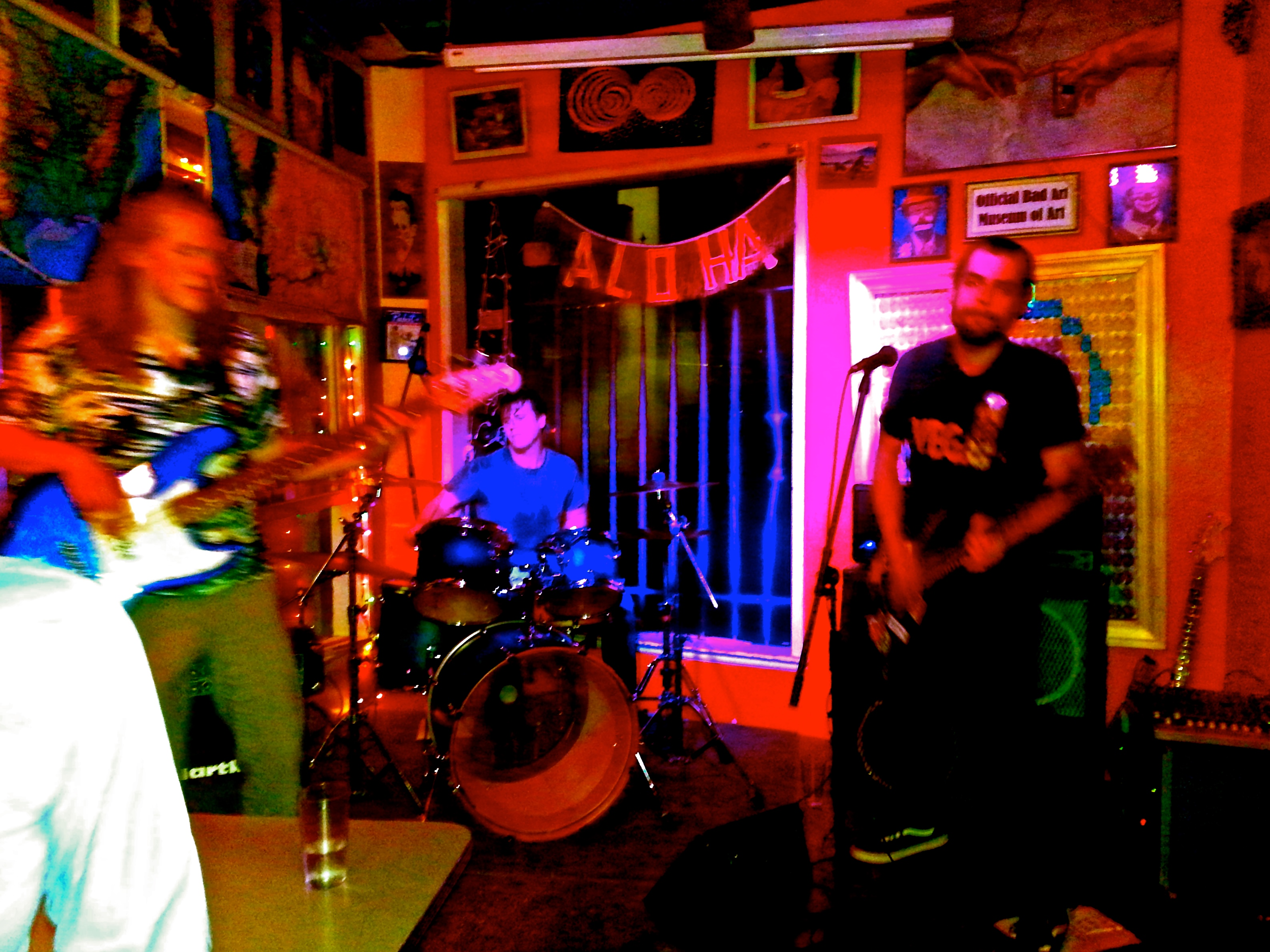 Your Band distorts gravity down at Cafe Racer