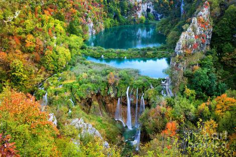 "Autumn among the lakes & falls of Plitvice Lakes National Park, Croatia, European Union. From ""kulturaistvaranje."""