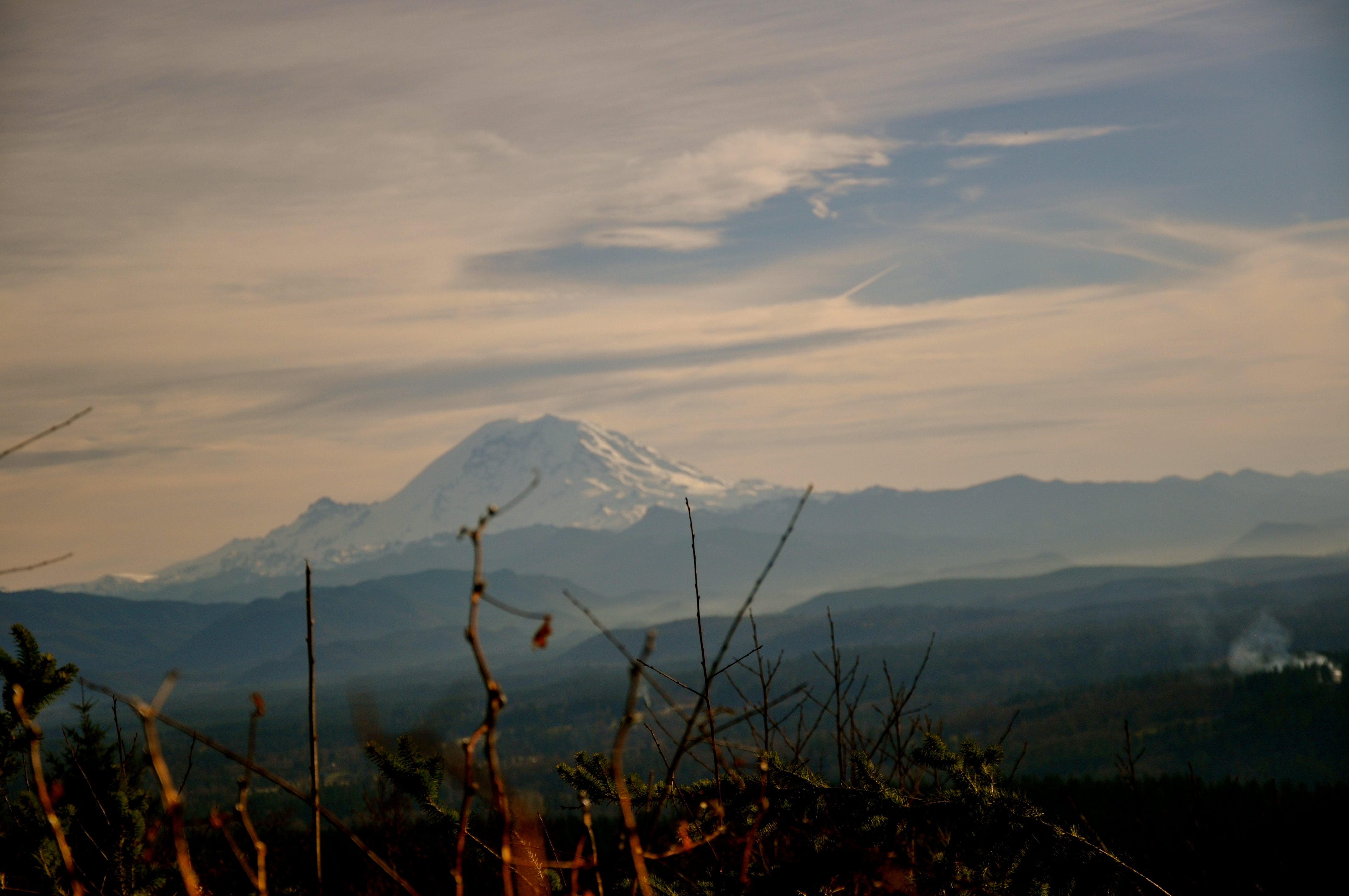 The Mountain and Cascadian skies.