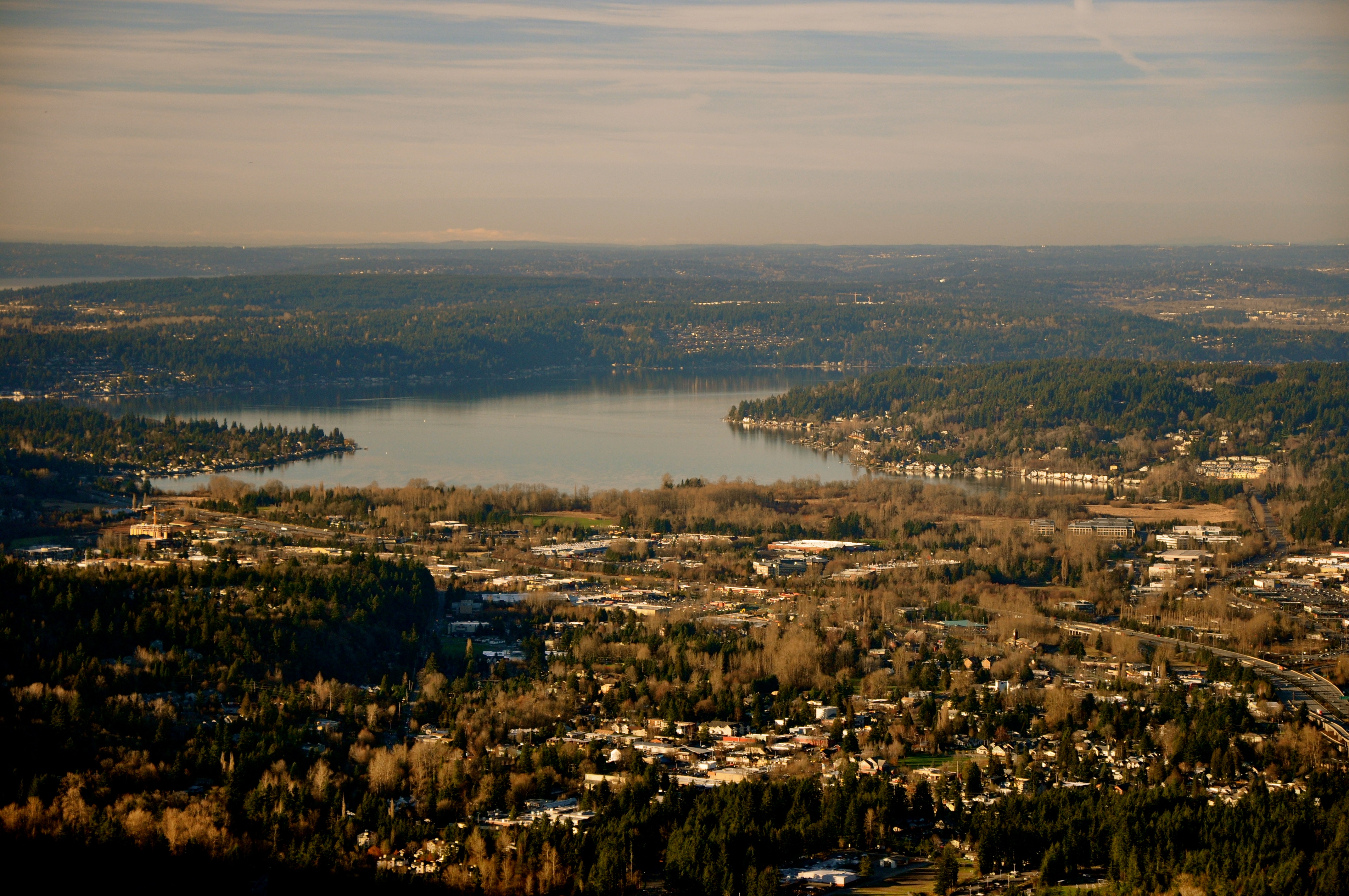 Below sprawls Issaquah, Lake Sammamish, and beyond eventually to the Salish Sea.