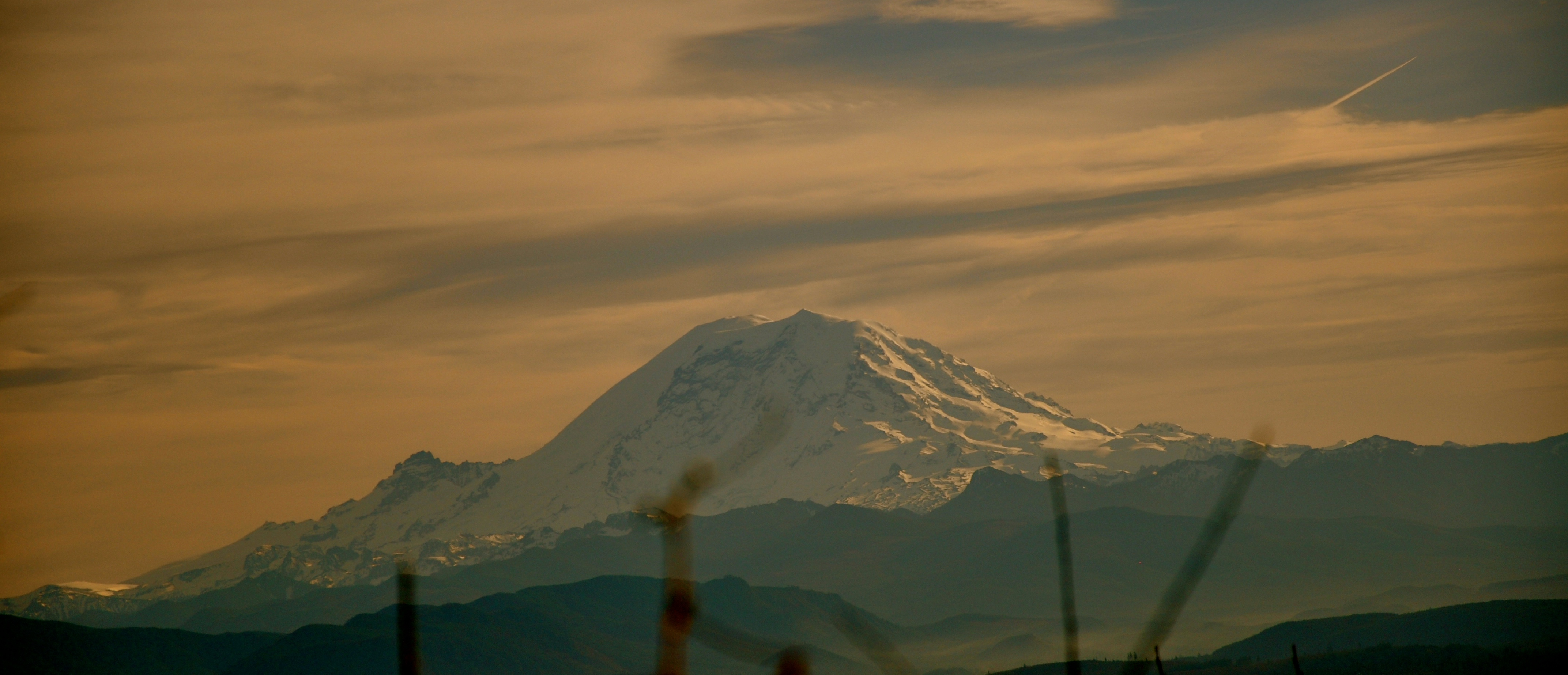 Mount Rainier aka The Mountain from along the Chirico Trail on West Tiger Mountain on Monday the 26th of January 2015. Furthermore, it's time to restore The Mountain to her Native name: Ti'Swaq' … the Sky Wiper!